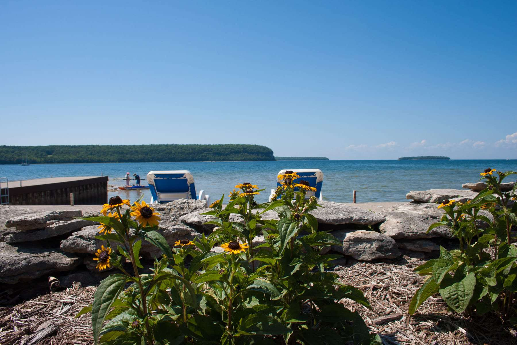 waterfront lodging in Door County