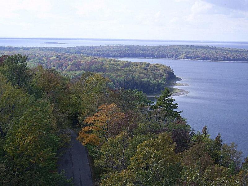 Aerial view of Door County