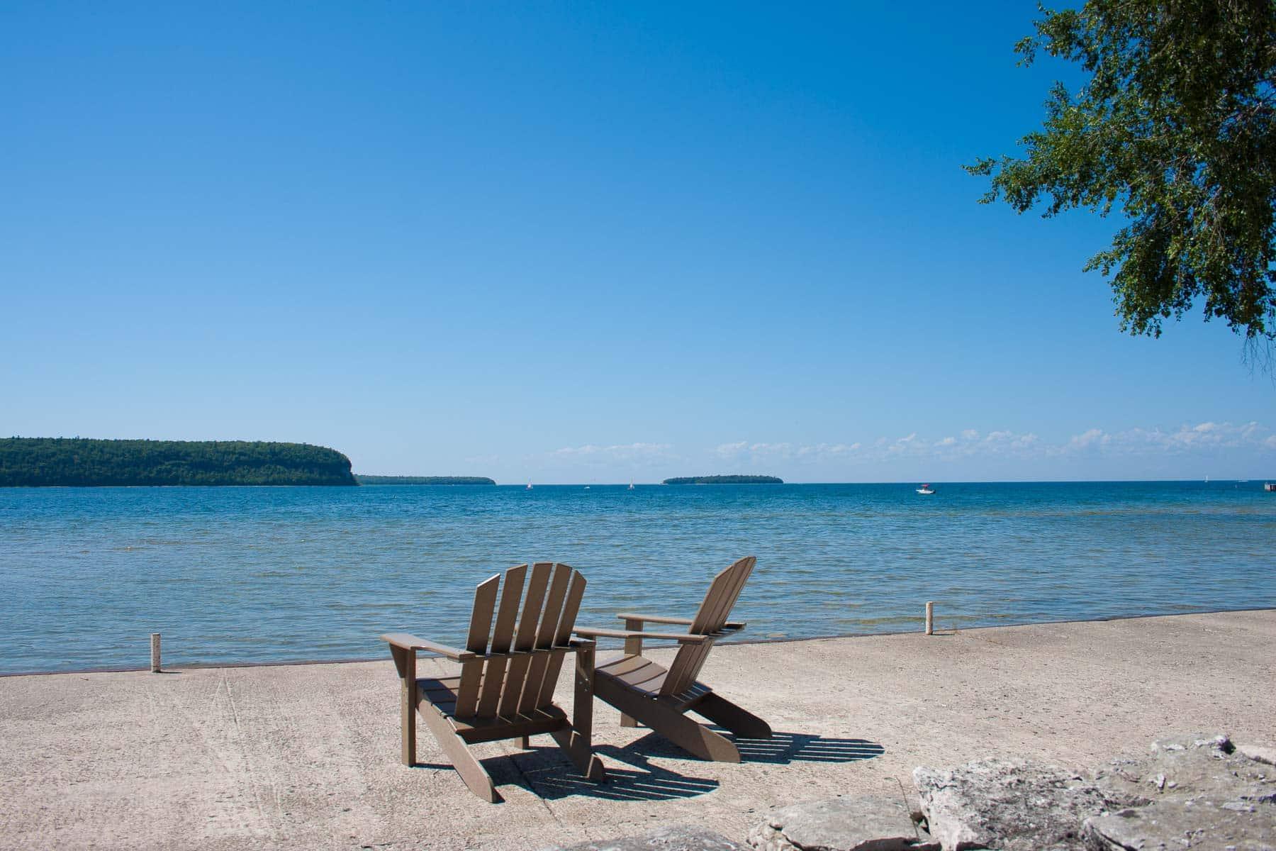 Ephraim Shores waterfront lodging in Door County