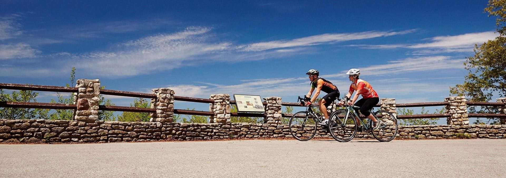 Ephraim Shores - biking in Door County