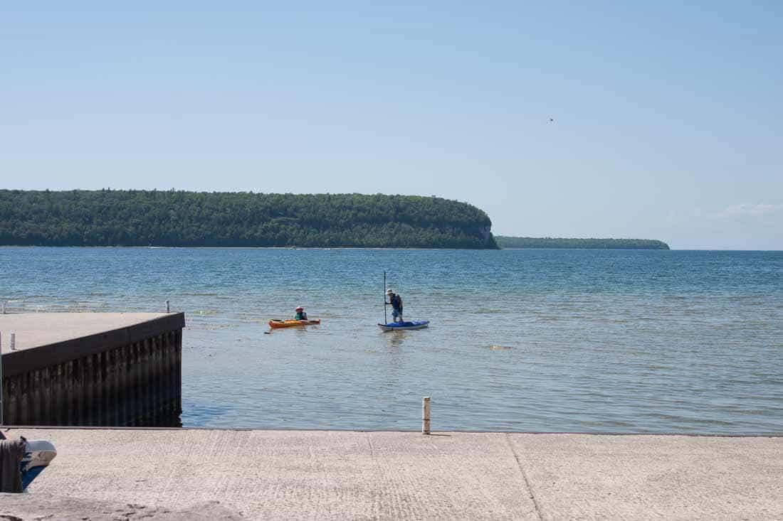 Ephraim Shores kayaking in Door County