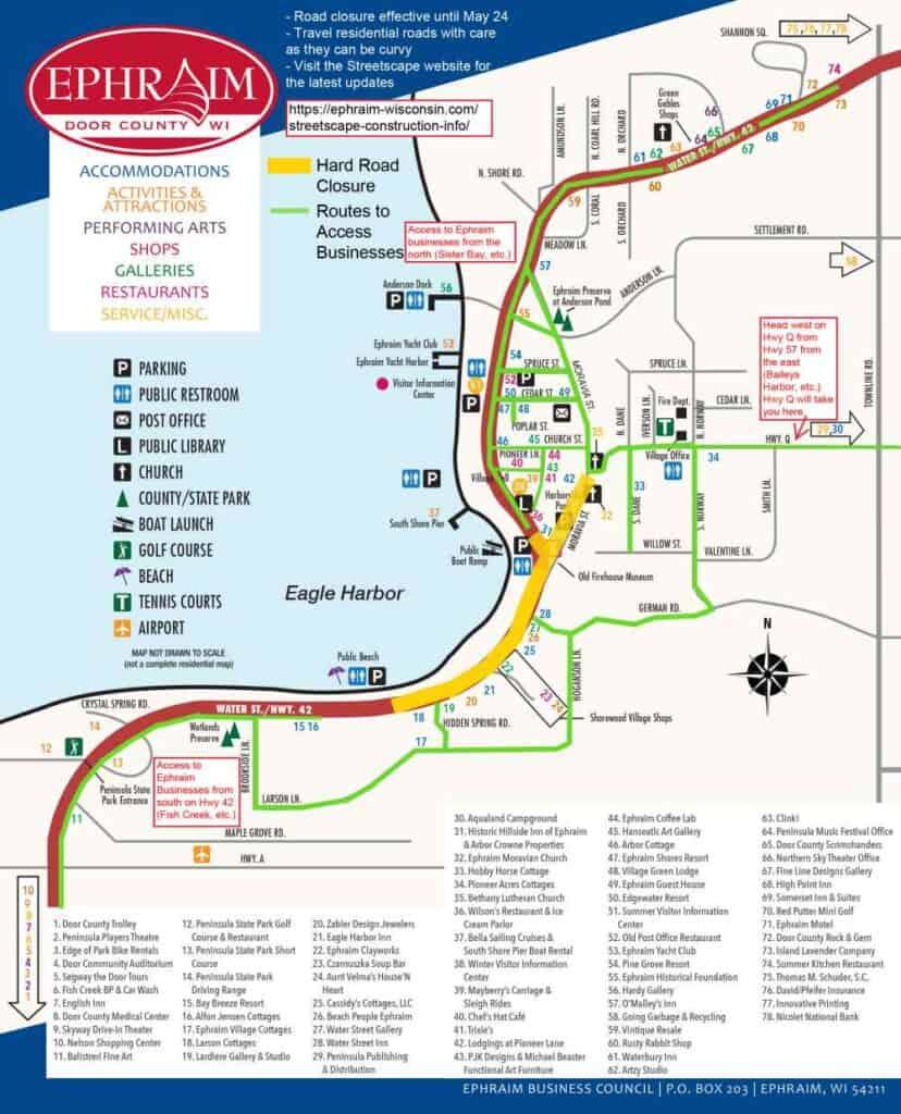 2019 Ephraim Road Closure map