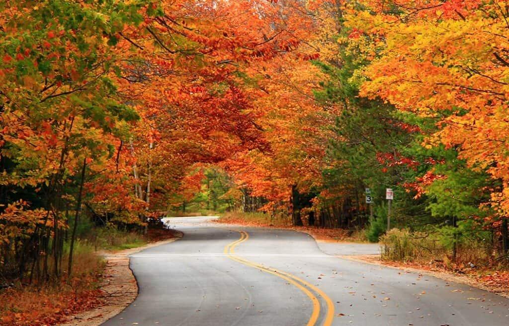 Ephraim Shores Door County peak fall colors