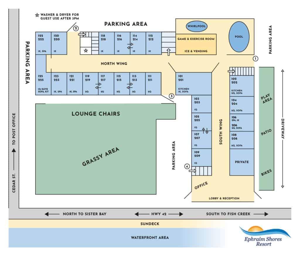 Ephraim Shores Resort map