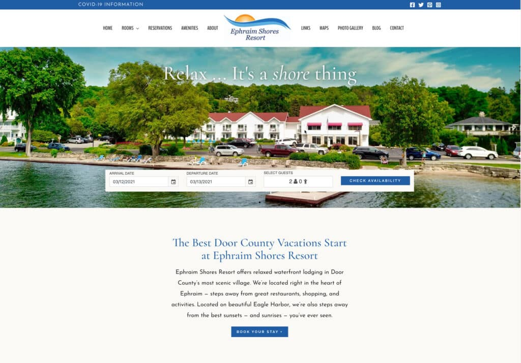 Ephraim Shores new website 2021