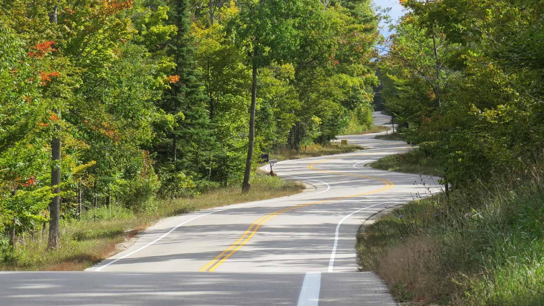 Ephraim Shores biking in door county